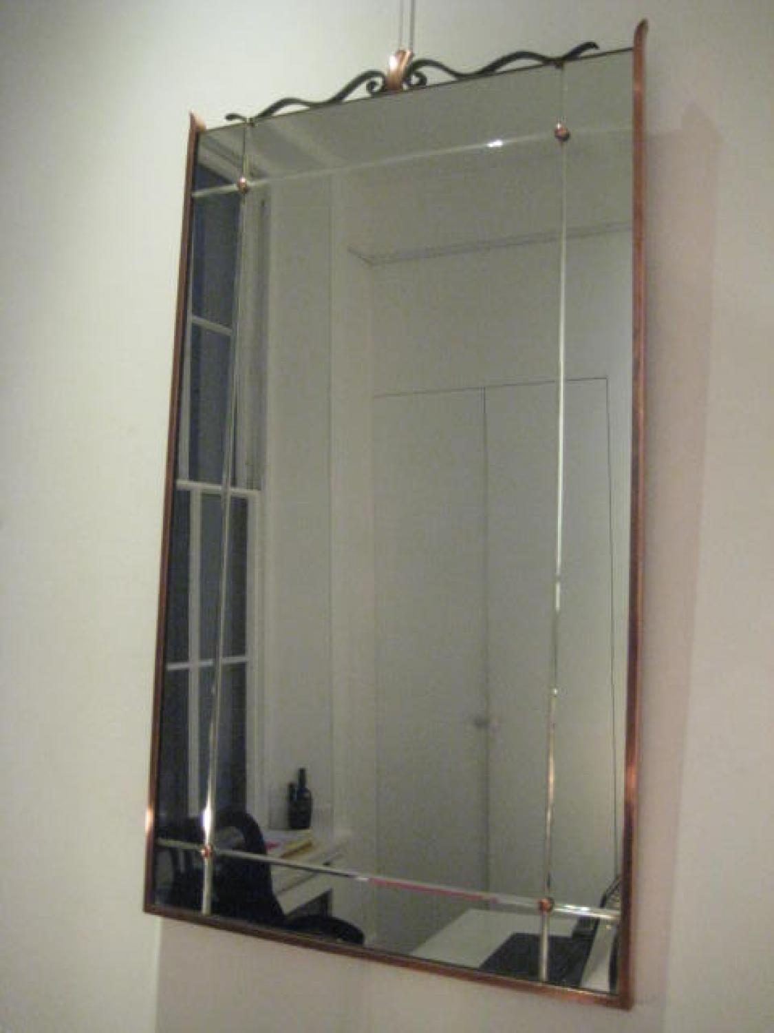 Copper and iron mirror Cl940