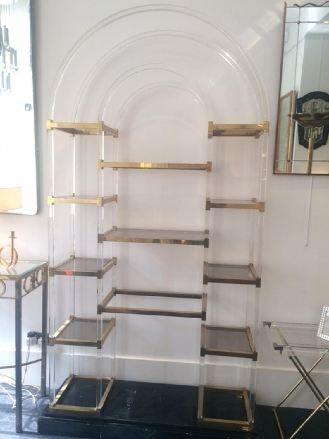 Lucite shelf unit