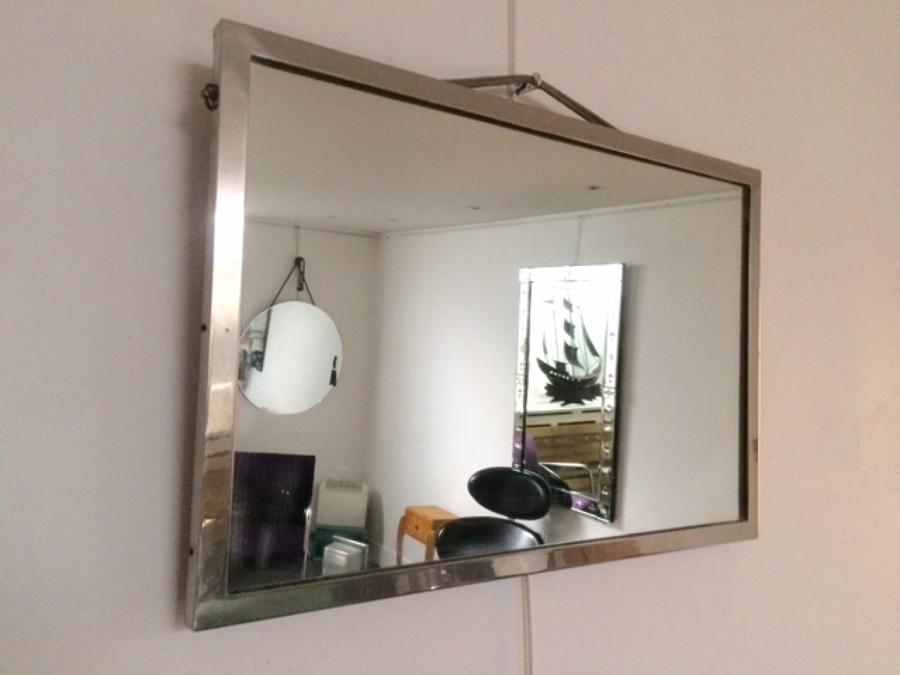 Small  chrome framed mirror