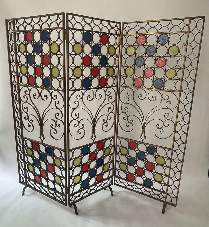 Gilded wrought iron screen