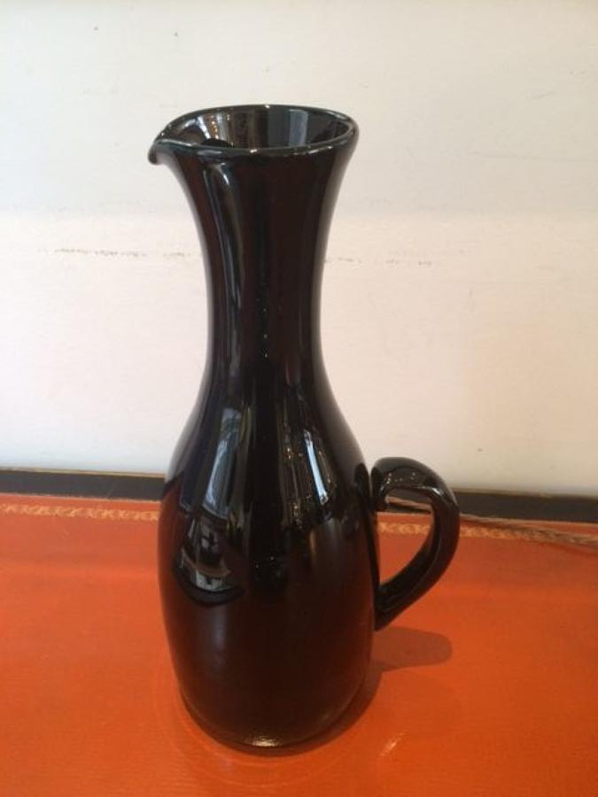 Murano glass pitcher vase