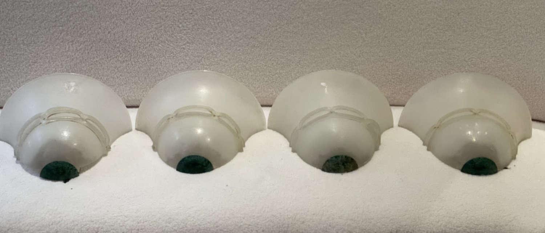 Set of 4 Murano Glass Italian Wall Lights -1930s