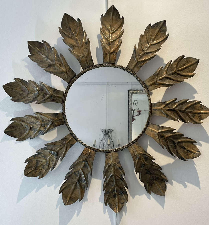 Spanish Mid Century Sunburst Mirror