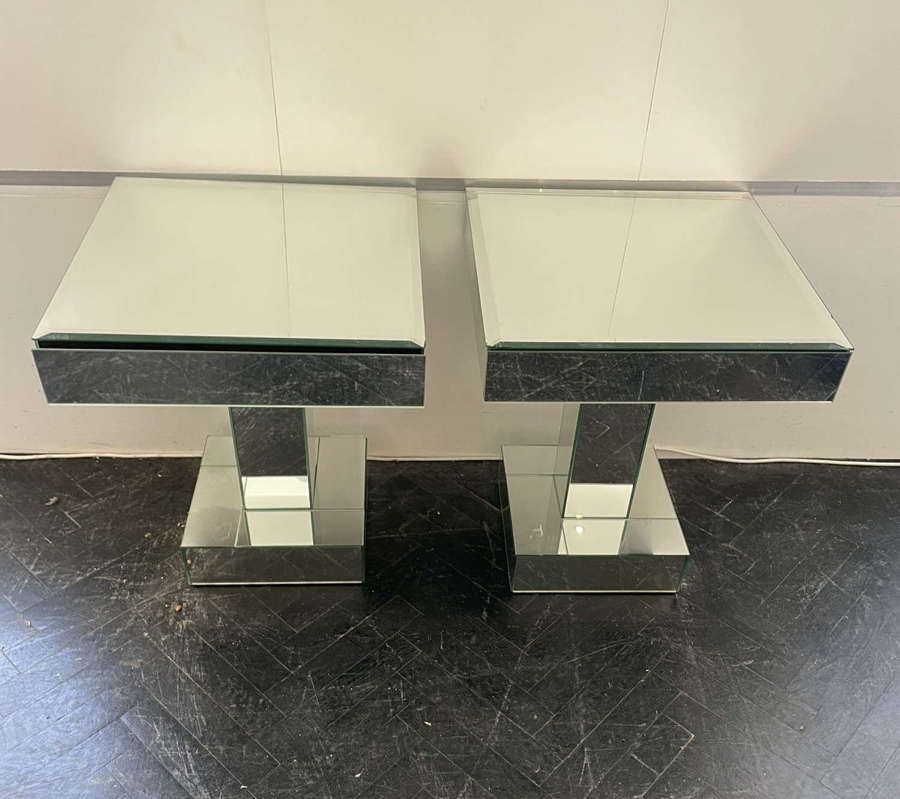 Pair of Mirrored Side Tables