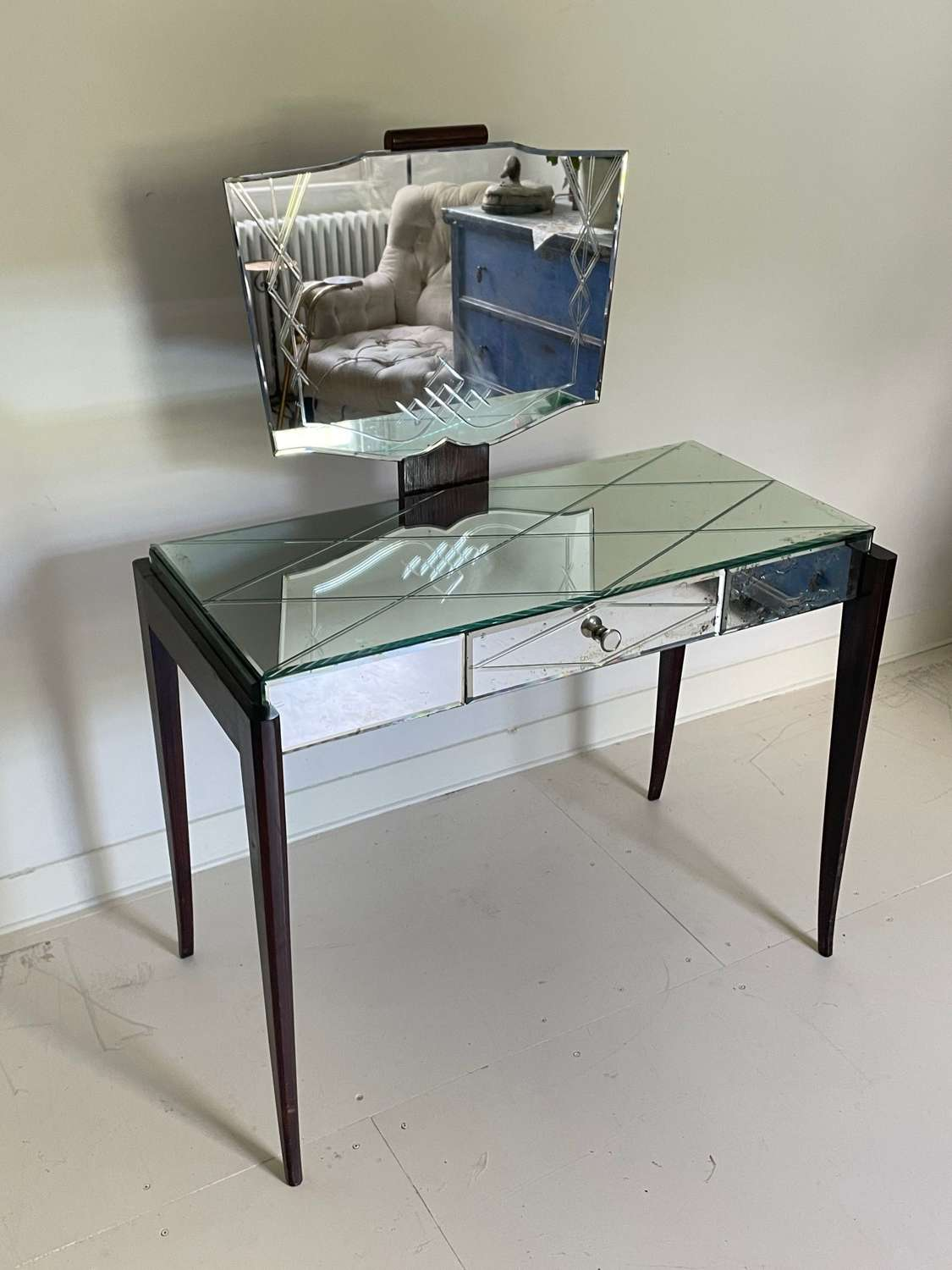 Art Deco Mirrored Dressing Table - 40s