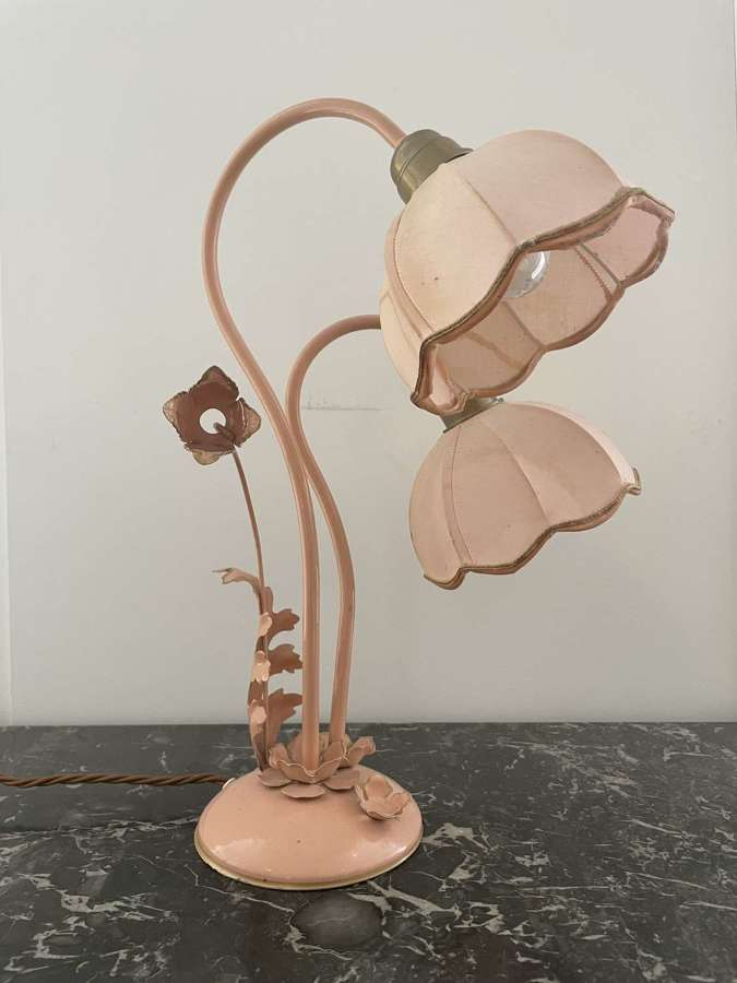 Pink Toile Table Lamp